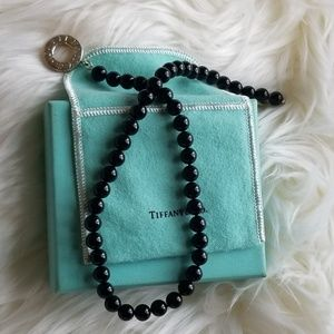 Tiffany and co Black onyx Toggle necklace
